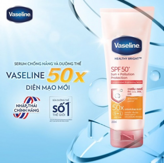 Dưỡng thể Vaseline Healthy White Sun + Pollution Protection 50x - SPF 50