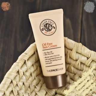 Kem .Chống Nắng Da Mụn - Clean Face Oil Control Sun Cream - The Face Shop