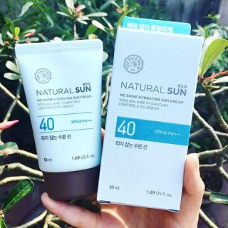 Kem .Chống Nắng - Natural Sun Eco No Shine Hydrating Sun Cream SPF 40 PA++ - the face shop